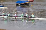 The Boat Race season 2016 -  The Cancer Research Women's Boat Race. River Thames between Putney Bridge and Mortlake, London SW15,  United Kingdom, on 27 March 2016 at 13:29, image #105