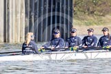 The Boat Race season 2016 -  The Cancer Research Women's Boat Race. River Thames between Putney Bridge and Mortlake, London SW15,  United Kingdom, on 27 March 2016 at 13:45, image #124