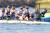 The Boat Race season 2016 -  The Cancer Research Women's Boat Race. River Thames between Putney Bridge and Mortlake, London SW15,  United Kingdom, on 27 March 2016 at 14:04, image #144