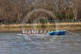 The Boat Race season 2016 -  The Cancer Research Women's Boat Race. River Thames between Putney Bridge and Mortlake, London SW15,  United Kingdom, on 27 March 2016 at 14:05, image #148