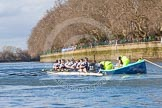 The Boat Race season 2016 -  The Cancer Research Women's Boat Race. River Thames between Putney Bridge and Mortlake, London SW15,  United Kingdom, on 27 March 2016 at 14:05, image #149