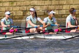 The Boat Race season 2016 -  The Cancer Research Women's Boat Race. River Thames between Putney Bridge and Mortlake, London SW15,  United Kingdom, on 27 March 2016 at 14:06, image #155