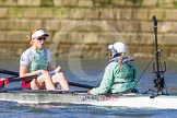 The Boat Race season 2016 -  The Cancer Research Women's Boat Race. River Thames between Putney Bridge and Mortlake, London SW15,  United Kingdom, on 27 March 2016 at 14:07, image #160