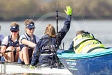 The Boat Race season 2016 -  The Cancer Research Women's Boat Race. River Thames between Putney Bridge and Mortlake, London SW15,  United Kingdom, on 27 March 2016 at 14:10, image #167