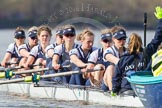 The Boat Race season 2016 -  The Cancer Research Women's Boat Race. River Thames between Putney Bridge and Mortlake, London SW15,  United Kingdom, on 27 March 2016 at 14:10, image #402