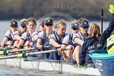 The Boat Race season 2016 -  The Cancer Research Women's Boat Race. River Thames between Putney Bridge and Mortlake, London SW15,  United Kingdom, on 27 March 2016 at 14:10, image #170