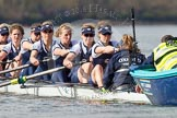 The Boat Race season 2016 -  The Cancer Research Women's Boat Race. River Thames between Putney Bridge and Mortlake, London SW15,  United Kingdom, on 27 March 2016 at 14:10, image #171