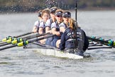 The Boat Race season 2016 -  The Cancer Research Women's Boat Race. River Thames between Putney Bridge and Mortlake, London SW15,  United Kingdom, on 27 March 2016 at 14:10, image #175