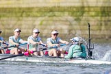 The Boat Race season 2016 -  The Cancer Research Women's Boat Race. River Thames between Putney Bridge and Mortlake, London SW15,  United Kingdom, on 27 March 2016 at 14:10, image #176