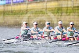 The Boat Race season 2016 -  The Cancer Research Women's Boat Race. River Thames between Putney Bridge and Mortlake, London SW15,  United Kingdom, on 27 March 2016 at 14:10, image #177