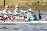 The Boat Race season 2016 -  The Cancer Research Women's Boat Race. River Thames between Putney Bridge and Mortlake, London SW15,  United Kingdom, on 27 March 2016 at 14:11, image #180