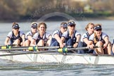 The Boat Race season 2016 -  The Cancer Research Women's Boat Race. River Thames between Putney Bridge and Mortlake, London SW15,  United Kingdom, on 27 March 2016 at 14:11, image #186