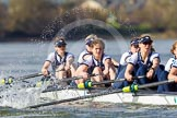The Boat Race season 2016 -  The Cancer Research Women's Boat Race. River Thames between Putney Bridge and Mortlake, London SW15,  United Kingdom, on 27 March 2016 at 14:11, image #188