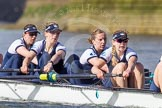 The Boat Race season 2016 -  The Cancer Research Women's Boat Race. River Thames between Putney Bridge and Mortlake, London SW15,  United Kingdom, on 27 March 2016 at 14:12, image #194
