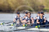 The Boat Race season 2016 -  The Cancer Research Women's Boat Race. River Thames between Putney Bridge and Mortlake, London SW15,  United Kingdom, on 27 March 2016 at 14:13, image #204