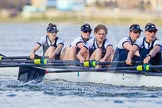The Boat Race season 2016 -  The Cancer Research Women's Boat Race. River Thames between Putney Bridge and Mortlake, London SW15,  United Kingdom, on 27 March 2016 at 14:13, image #206