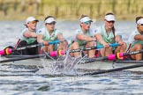 The Boat Race season 2016 -  The Cancer Research Women's Boat Race. River Thames between Putney Bridge and Mortlake, London SW15,  United Kingdom, on 27 March 2016 at 14:14, image #211