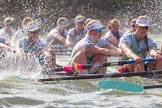 The Boat Race season 2016 -  The Cancer Research Women's Boat Race. River Thames between Putney Bridge and Mortlake, London SW15,  United Kingdom, on 27 March 2016 at 14:21, image #248