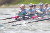 The Boat Race season 2016 -  The Cancer Research Women's Boat Race. River Thames between Putney Bridge and Mortlake, London SW15,  United Kingdom, on 27 March 2016 at 14:21, image #253