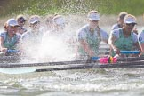 The Boat Race season 2016 -  The Cancer Research Women's Boat Race. River Thames between Putney Bridge and Mortlake, London SW15,  United Kingdom, on 27 March 2016 at 14:21, image #255