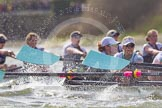 The Boat Race season 2016 -  The Cancer Research Women's Boat Race. River Thames between Putney Bridge and Mortlake, London SW15,  United Kingdom, on 27 March 2016 at 14:21, image #256