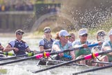 The Boat Race season 2016 -  The Cancer Research Women's Boat Race. River Thames between Putney Bridge and Mortlake, London SW15,  United Kingdom, on 27 March 2016 at 14:21, image #257