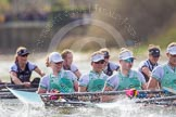 The Boat Race season 2016 -  The Cancer Research Women's Boat Race. River Thames between Putney Bridge and Mortlake, London SW15,  United Kingdom, on 27 March 2016 at 14:21, image #258