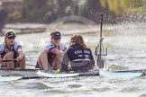 The Boat Race season 2016 -  The Cancer Research Women's Boat Race. River Thames between Putney Bridge and Mortlake, London SW15,  United Kingdom, on 27 March 2016 at 14:21, image #260