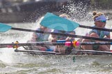 The Boat Race season 2016 -  The Cancer Research Women's Boat Race. River Thames between Putney Bridge and Mortlake, London SW15,  United Kingdom, on 27 March 2016 at 14:22, image #265