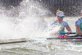 The Boat Race season 2016 -  The Cancer Research Women's Boat Race. River Thames between Putney Bridge and Mortlake, London SW15,  United Kingdom, on 27 March 2016 at 14:22, image #272