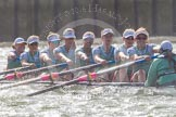 The Boat Race season 2016 -  The Cancer Research Women's Boat Race. River Thames between Putney Bridge and Mortlake, London SW15,  United Kingdom, on 27 March 2016 at 14:23, image #277