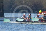 The Boat Race season 2016 -  The Cancer Research Women's Boat Race. River Thames between Putney Bridge and Mortlake, London SW15,  United Kingdom, on 27 March 2016 at 14:33, image #313