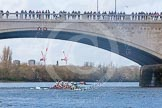 The Boat Race season 2016 -  The Cancer Research Women's Boat Race. River Thames between Putney Bridge and Mortlake, London SW15,  United Kingdom, on 27 March 2016 at 14:34, image #316