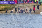 The Boat Race season 2016 -  The Cancer Research Women's Boat Race. River Thames between Putney Bridge and Mortlake, London SW15,  United Kingdom, on 27 March 2016 at 14:37, image #317