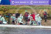 The Boat Race season 2016 -  The Cancer Research Women's Boat Race. River Thames between Putney Bridge and Mortlake, London SW15,  United Kingdom, on 27 March 2016 at 14:39, image #318