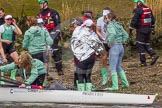 The Boat Race season 2016 -  The Cancer Research Women's Boat Race. River Thames between Putney Bridge and Mortlake, London SW15,  United Kingdom, on 27 March 2016 at 14:39, image #319