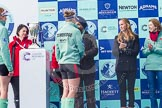 The Boat Race season 2016 -  The Cancer Research Women's Boat Race. River Thames between Putney Bridge and Mortlake, London SW15,  United Kingdom, on 27 March 2016 at 14:46, image #329