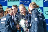 The Boat Race season 2016 -  The Cancer Research Women's Boat Race. River Thames between Putney Bridge and Mortlake, London SW15,  United Kingdom, on 27 March 2016 at 14:50, image #389