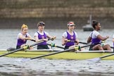 The Boat Race season 2017 - Women's Boat Race Fixture CUWBC vs Univerity of London: Meeting the UL 2nd eight at the start of their fixture vs the CUWBC lightweight squad. River Thames between Putney Bridge and Mortlake, London SW15,  United Kingdom, on 19 February 2017 at 15:45, image #21