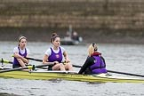 The Boat Race season 2017 - Women's Boat Race Fixture CUWBC vs Univerity of London: Meeting the UL 2nd eight at the start of their fixture vs the CUWBC lightweight squad. River Thames between Putney Bridge and Mortlake, London SW15,  United Kingdom, on 19 February 2017 at 15:45, image #23