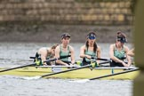 The Boat Race season 2017 - Women's Boat Race Fixture CUWBC vs Univerity of London: The CUWBC lightweight squad about tro race the UL 2nd eight, here bos - Ellie Thompson, 2 - Isobel Edwards, 3 - Rosie Boxall, 4 - Fenella McLuskie. River Thames between Putney Bridge and Mortlake, London SW15,  United Kingdom, on 19 February 2017 at 15:45, image #24