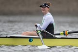 The Boat Race season 2017 - Women's Boat Race Fixture CUWBC vs Univerity of London: The CUWBC eight before the start of the race, here 7 - Myriam Goudet. River Thames between Putney Bridge and Mortlake, London SW15,  United Kingdom, on 19 February 2017 at 15:53, image #36