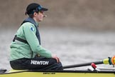 The Boat Race season 2017 - Women's Boat Race Fixture CUWBC vs Univerity of London: The CUWBC eight before the start of the race, here cox  Matthew Holland. River Thames between Putney Bridge and Mortlake, London SW15,  United Kingdom, on 19 February 2017 at 15:53, image #38