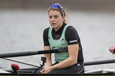 The Boat Race season 2017 - Women's Boat Race Fixture CUWBC vs Univerity of London: The CUWBC eight before the start of the race, here stroke Alice White. River Thames between Putney Bridge and Mortlake, London SW15,  United Kingdom, on 19 February 2017 at 15:54, image #40