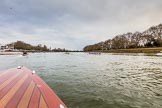 The Boat Race season 2017 - Women's Boat Race Fixture CUWBC vs Univerity of London: The scene near the boat houses, seen from the press launch. River Thames between Putney Bridge and Mortlake, London SW15,  United Kingdom, on 19 February 2017 at 16:02, image #71