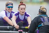 The Boat Race season 2017 - Women's Boat Race Fixture CUWBC vs Univerity of London: The UL eight, here 7 - Ally French, stroke - Robyn Hart-Winks, cox - Lauren Holland. River Thames between Putney Bridge and Mortlake, London SW15,  United Kingdom, on 19 February 2017 at 16:26, image #139