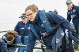 The Cancer Research UK Boat Race season 2017 - Women's Boat Race Fixture OUWBC vs Molesey BC: OUWBC getting their boat ready for the fixture. River Thames between Putney Bridge and Mortlake, London SW15,  United Kingdom, on 19 March 2017 at 15:19, image #10
