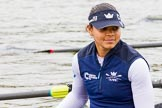 The Cancer Research UK Boat Race season 2017 - Women's Boat Race Fixture OUWBC vs Molesey BC: OUWBC's 7 seat Jenna Hebert. River Thames between Putney Bridge and Mortlake, London SW15,  United Kingdom, on 19 March 2017 at 15:20, image #12