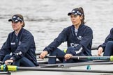 The Cancer Research UK Boat Race season 2017 - Women's Boat Race Fixture OUWBC vs Molesey BC: The OUWBC boat, here 4 seat Rebecca Esselstein and 3 seat Rebecca Te Water Naude. River Thames between Putney Bridge and Mortlake, London SW15,  United Kingdom, on 19 March 2017 at 15:21, image #16