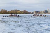 The Cancer Research UK Boat Race season 2017 - Women's Boat Race Fixture OUWBC vs Molesey BC: Molesey and OUWBC in the Milepost area. River Thames between Putney Bridge and Mortlake, London SW15,  United Kingdom, on 19 March 2017 at 16:02, image #58